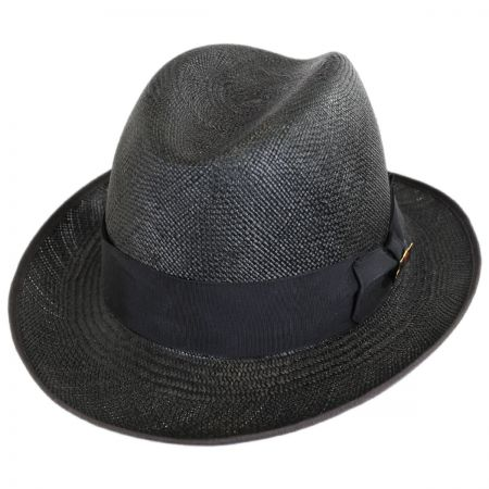Churchill Panama Straw Homburg Hat