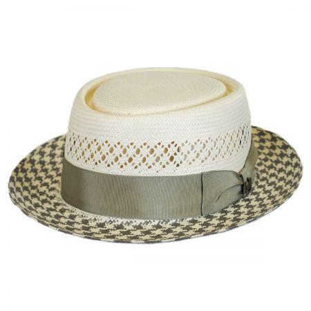 Biltmore Miro Shantung Straw Pork Pie Hat