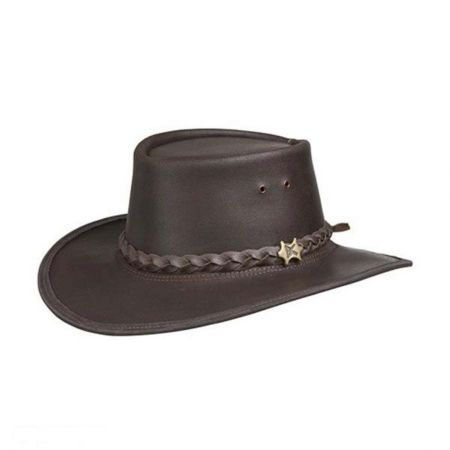BC Hats Stockman Smooth Leather Outback Hat
