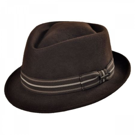 Diamond Crown Wool Felt Trilby Fedora Hat alternate view 1