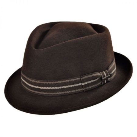Diamond Crown Wool Felt Trilby Fedora Hat alternate view 5