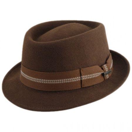 Bigalli Gambler Wool Felt Stingy Brim Fedora Hat