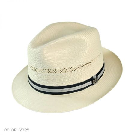 Abby Road Handwoven Shantung Straw Fedora Hat