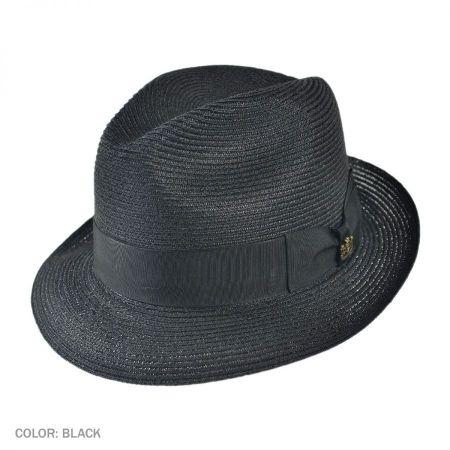 Charleston Hemp Straw Fedora Hat
