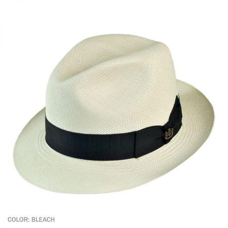 Biltmore Havana Panama Straw Trilby Fedora Hat