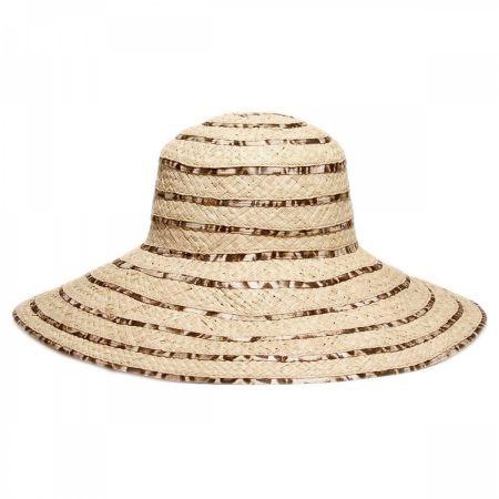 Gottex Panthere Raffia Straw Sun Hat