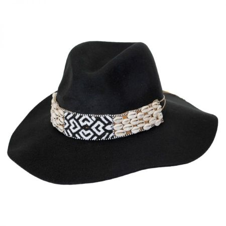 Gottex Seri Bead Band Wool Felt Fedora Hat