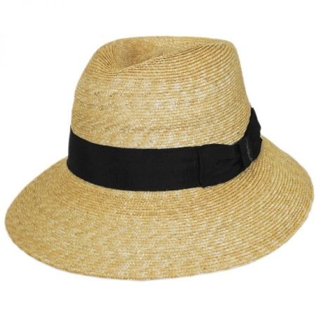 Gottex Charley Milan Straw Fedora Hat