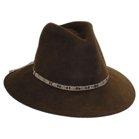 Gottex Moonlight Wool Felt Safari Fedora Hat