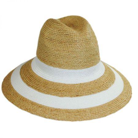 Newport Raffia Straw Wide Brim Fedora Hat alternate view 6