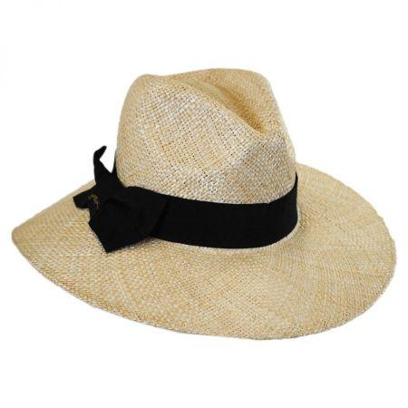 Gottex Marquesa Straw Wide Brim Fedora Hat