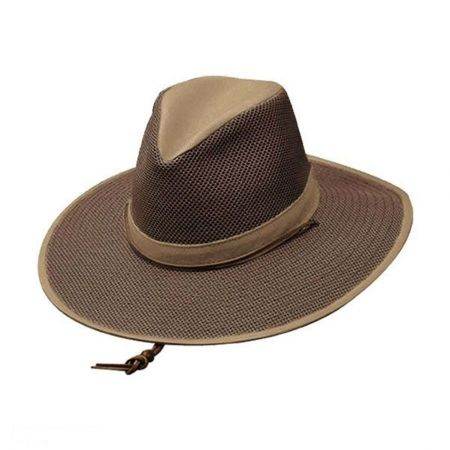 Mesh Aussie Fedora Hat with Chincord - 2X alternate view 1