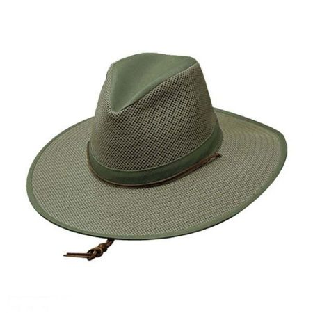 Mesh Aussie Fedora Hat with Chincord - 2X alternate view 2