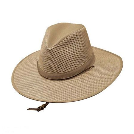 Mesh Aussie Fedora Hat with Chincord - 2X alternate view 3