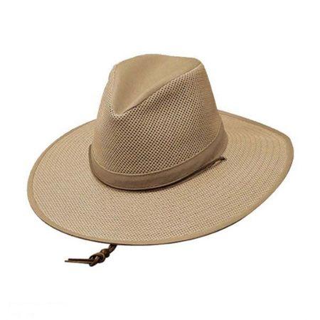Henschel Mesh Aussie Fedora Hat with Chincord - 2X