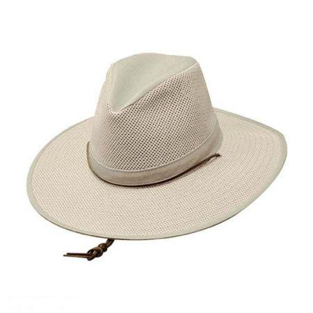 Mesh Aussie Fedora Hat with Chincord - 3X