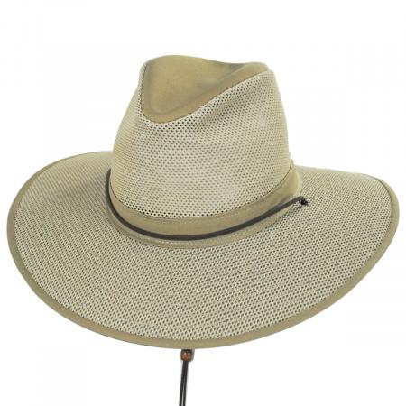 Mesh Aussie Fedora Hat with Chincord alternate view 3