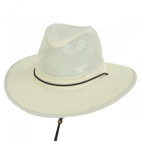 Mesh Aussie Fedora Hat with Chincord alternate view 4