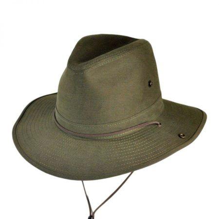 Henschel Cotton Twill Aussie Fedora Hat - 2X