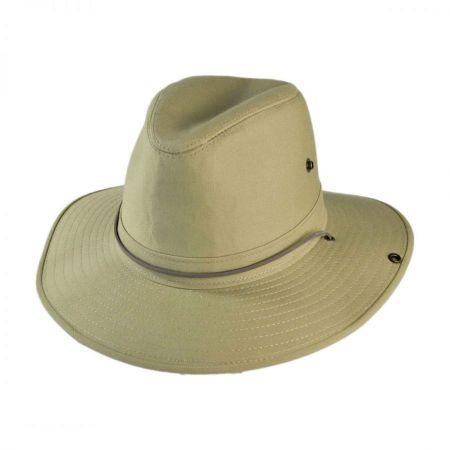 Henschel Cotton Twill Aussie Fedora Hat - 3X