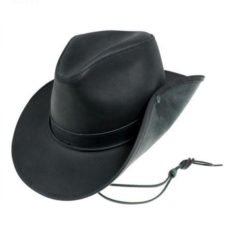 Henschel Leather Aussie Fedora Hat