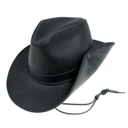 Black Leather Fedora at Village Hat Shop c6459d508f