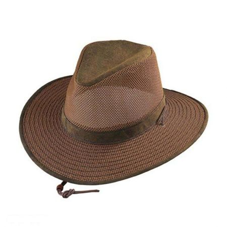 Packable Mesh Aussie Fedora Hat alternate view 9