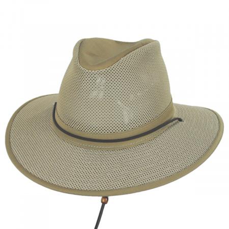 Henschel Crushable Mesh Aussie Fedora Hat