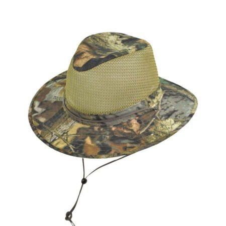 Mesh Cotton Aussie Fedora Hat alternate view 3