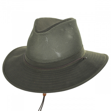 Mesh Cotton Aussie Fedora Hat alternate view 9