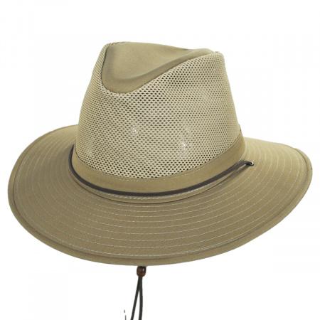 Henschel Mesh Cotton Aussie Fedora Hat