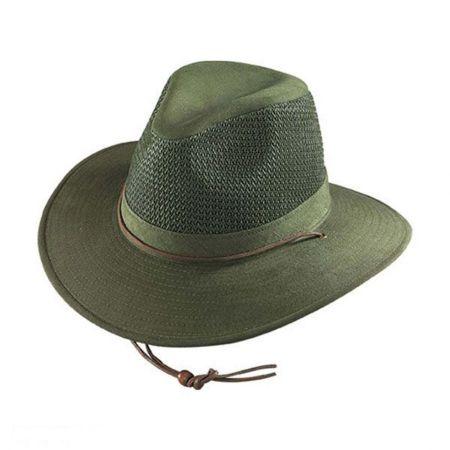 Mesh Cotton Aussie Fedora Hat - 2X alternate view 1