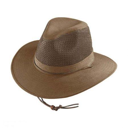 Mesh Cotton Aussie Fedora Hat - 2X alternate view 2