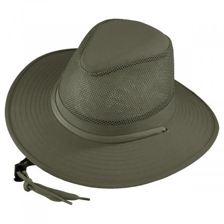 Mesh Cotton Aussie Fedora Hat - 3X alternate view 1