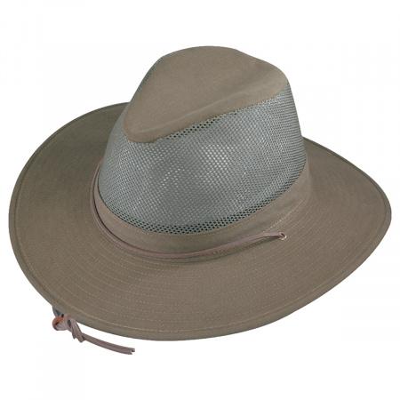 Mesh Cotton Aussie Fedora Hat - 3X alternate view 2