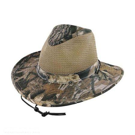 Henschel Mossy Oak Mesh Aussie Fedora Hat