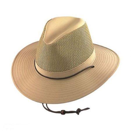Henschel Solarweave Mesh Aussie Fedora Hat - 2X