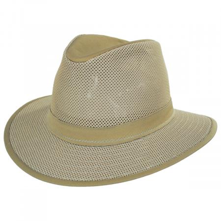 Henschel Crushable Mesh Safari Fedora Hat