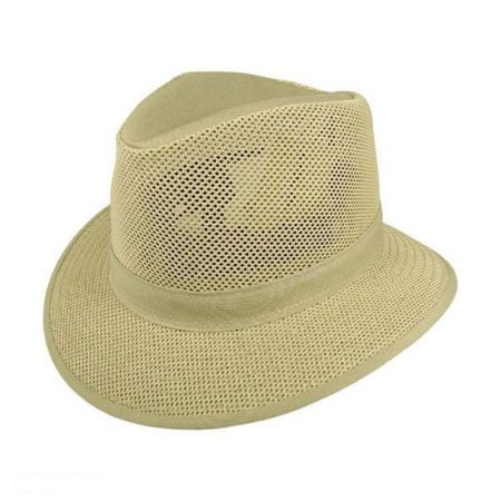 Henschel Crushable Mesh Safari Fedora Hat - 2X