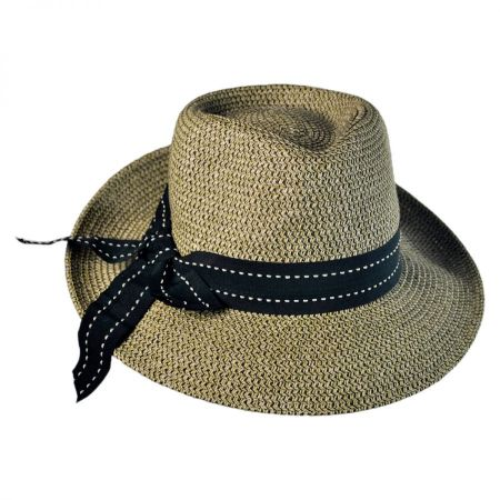 Packable Straw Fedora at Village Hat Shop 7c302a2db97