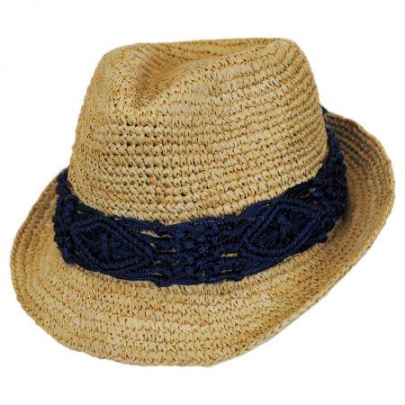 Malia Raffia Straw Fedora Hat alternate view 2