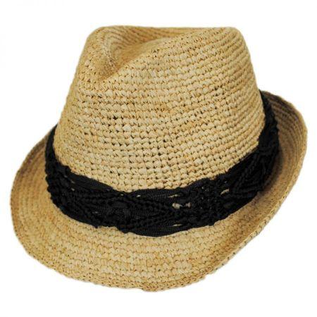 Physician Endorsed Malia Raffia Straw Fedora Hat