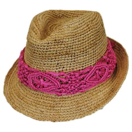 Physician Endorsed Malia Raffia Straw Fedora Hat