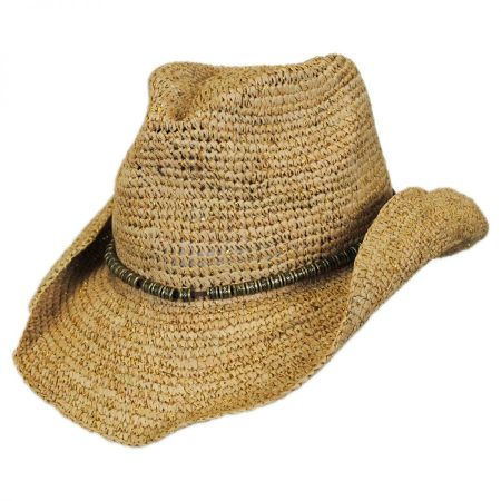 Physician Endorsed Sierra Raffia Straw Western Hat