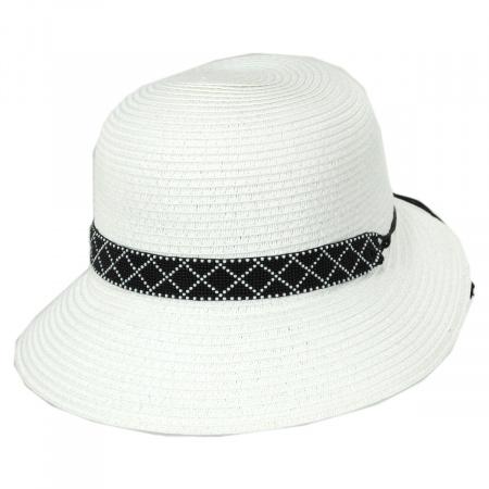 Diamante Toyo Straw Cloche Hat alternate view 9