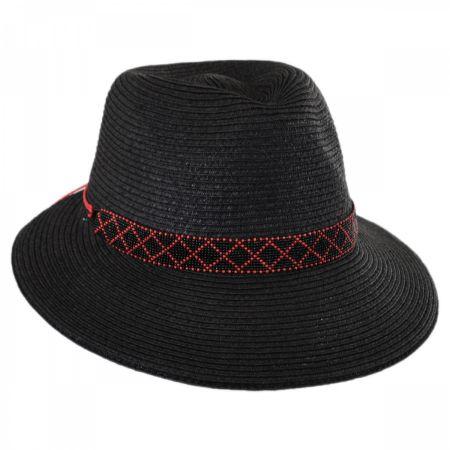 Regent Toyo Straw Fedora Cloche Hat alternate view 1