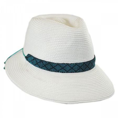 Regent Toyo Straw Fedora Cloche Hat alternate view 6