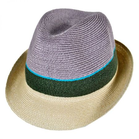 Tre Colore Hemp Straw Fedora Hat alternate view 5