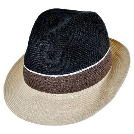 Tre Colore Hemp Straw Fedora Hat alternate view 1