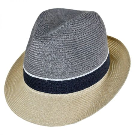 Tre Colore Hemp Straw Fedora Hat alternate view 9